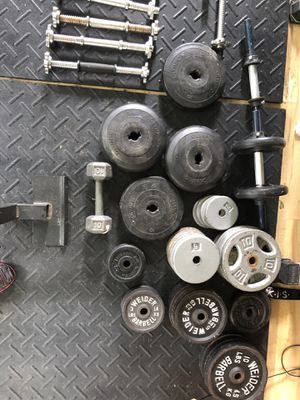 Weights for dumbbells and barbell for Sale in Springfield, VA