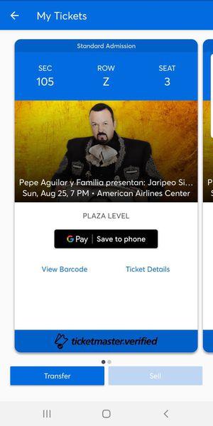 Pepe Aguilar Concert Tickets for Sale in Alvarado, TX