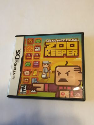 Action puzzle game ZOO KEEPER DS game for Sale in Haverhill, MA