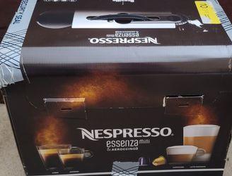 Nespresso - Essenza Mini Espresso Machine with Aeroccino Milk Frother by Breville for Sale in Belleville,  NJ