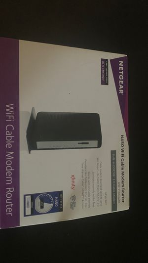 Net gear N450 WiFi cable modem router for Sale in San Diego, CA