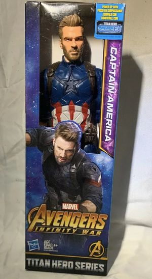 Marvel Infinity War Titan Hero Series Captain America with Titan Hero. Condition is New. Shipped with USPS Priority Mail. for Sale in Huntington Beach, CA