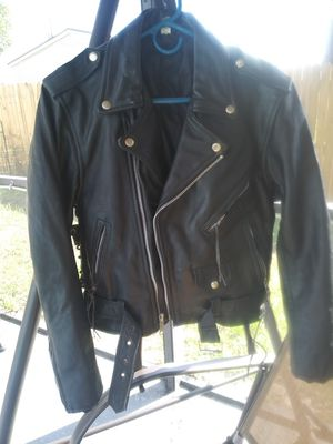 Genuine leather motorcycle jacket for Sale in Kissimmee, FL