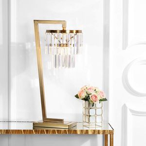 "NEW Brass 30"" Crystal Chandelier Buffet Table Lamp for Sale in Miami, FL"