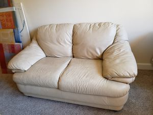 Real leather love seat for Sale in Alexandria, VA