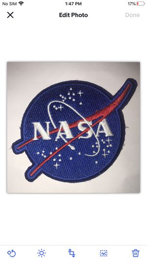 "Official NASA Vector Logo 3"" Diameter Round Iron-On Patch. for Sale in Arlington, VA"