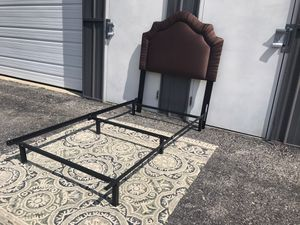 New Twin headboard and metal bed frame for Sale in Columbus, OH