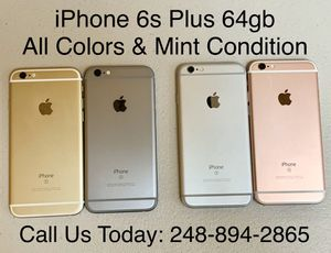 Sale: Unlocked iPhone 6s Plus 64gb Used All Colors Excellent Condition for Sale in Royal Oak, MI