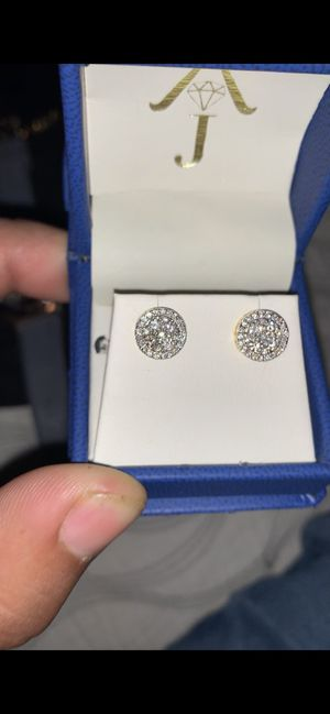 10k gold and diamond earrings for Sale in Dallas, TX