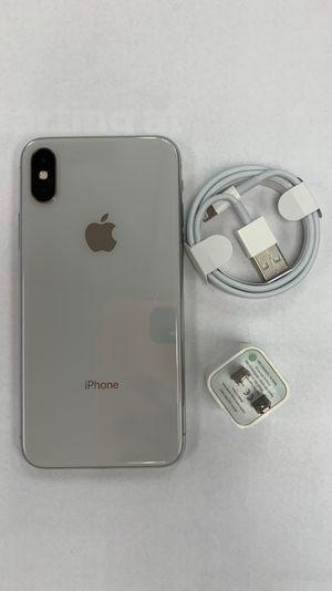 Factory unlocked apple iphone X 64 gb, store warranty! for Sale in Boston, MA