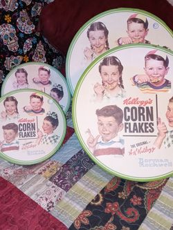 ORIGINAL KELLOGG'S CORN FLAKES LOGO LG-CUP & SM-PLATE SET OF 8 NORMAN ROCKWELL LIMITED EDITION.NEW for Sale in Torrance,  CA