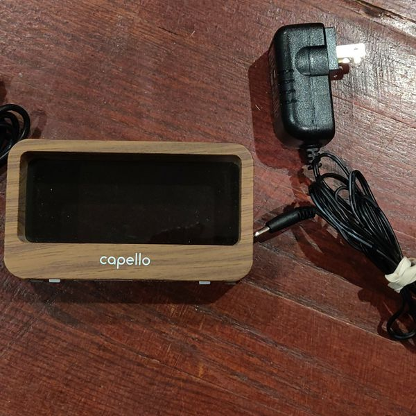 Capello digital alarm clock and phone charger