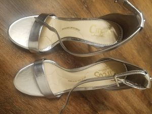 Silver high heels for Sale in Clinton Township, MI