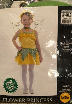 2T Toddler Girls Flower Princess Fairy Costume Dress Up like Tinkerbell for Sale in Ontario,  CA