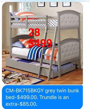 FOA Bunkbeds: Bunkbeds. Mattress not included. Trundle not included. Assembly not included. Free delivery. for Sale in Seal Beach, CA