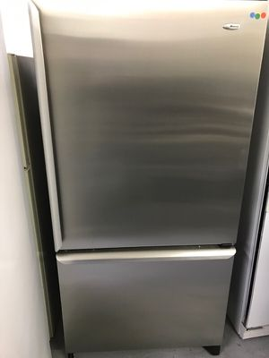 Stainless Amana Bottom Freezer Refrigerator / Warranty / Receipt / Free Delivery for Sale in Arvada, CO