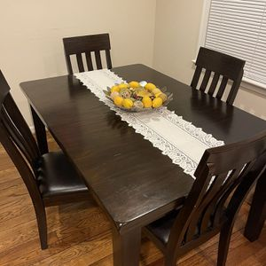 Solid Wood Table And 4 Chairs for Sale in Arlington, VA