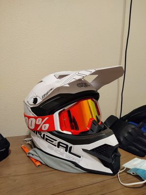 O'neal helmet (Large)100% goggles for Sale in Tacoma, WA