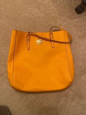 Yellow Genuine Michael Kors tote bag for Sale in Cypress, TX