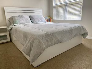 Ashley's Furniture bed frame with box spring from IKEA for Sale in Lutz, FL