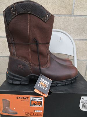 Brand new timberlands pro 24 /7 steel toe work boots size 12 and 13 for Sale in Riverside, CA