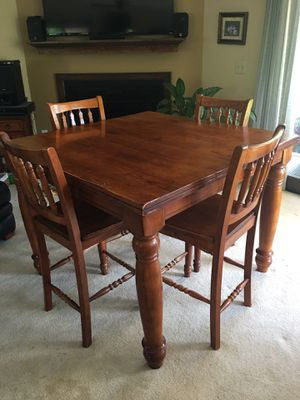 Bar Height Farm Table & 4 Chairs for Sale in Hendersonville, TN