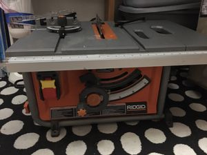 Ridgid 15 amp table saw for Sale in San Diego, CA