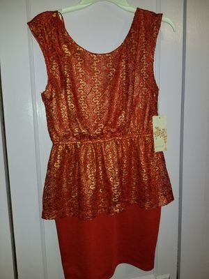 Red orange gold dress for Sale in Houston, TX