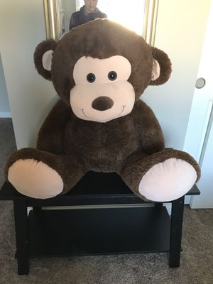 Plush stuffed monkey for Sale in Ridgefield, WA