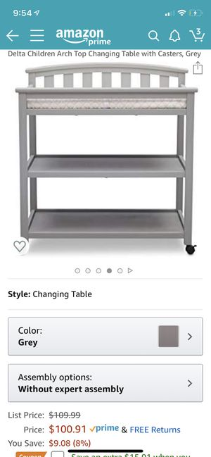 Changing table with casters, assembled for Sale in Mountain View, CA