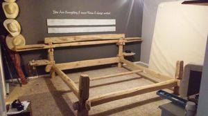 Custom white oak king bed frame for sale for Sale in La Crescent, MN