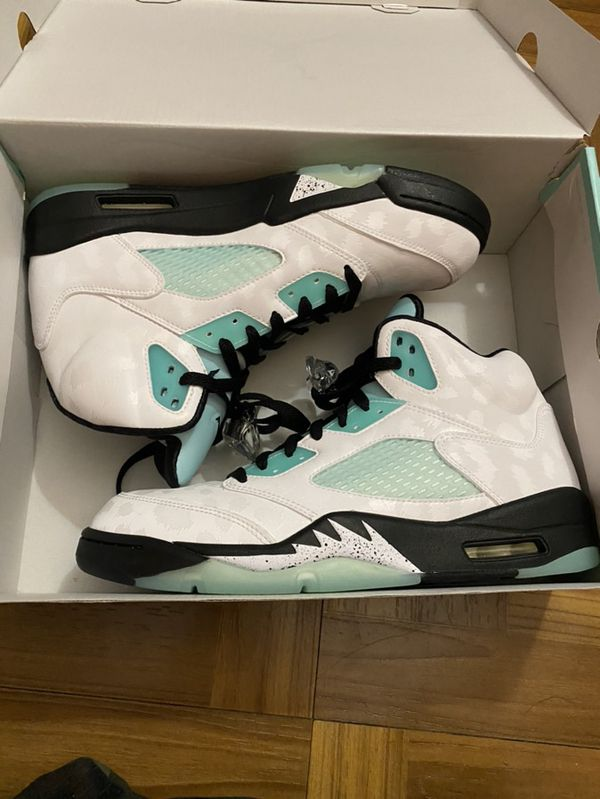 Jordan 5 Island Green Size 10