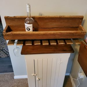 Reclaimed Wood Liquor Or Wine Rack And Cabinet for Sale in Brunswick, OH