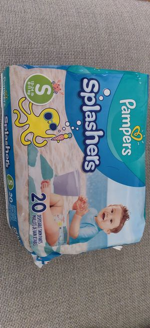 Pampers Splashers Disposable Swim Pants small 20pants for Sale in Milpitas, CA