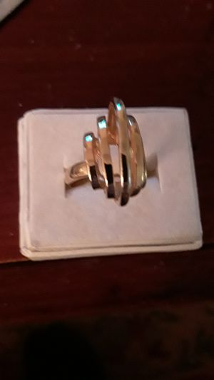 18 kt. gold plated ring for Sale in Madison, VA