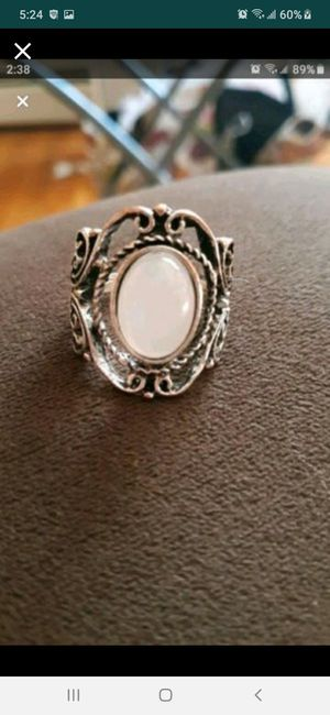 Silver moonstone ring size 8 for Sale in Southbridge, MA
