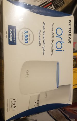 Orbi Wi-Fi router system with wifi extender for Sale in Downey, CA