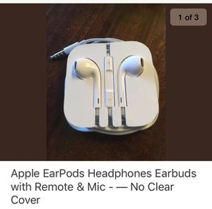 Apple EarPods Headphones Earbuds with Remote & Mic - — No Clear Cover for Sale in Baltimore, MD