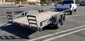 Car trailer 16 feet by 75 inches in between wheel wells for Sale in Wildomar, CA