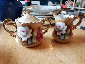 Lefton China '1867' Creamer and Sugar with lid for Sale in Gresham, OR