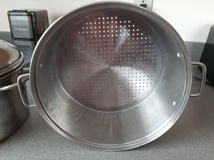 Stainless steel stacking stock pot and steamer set. for Sale in Royal Oak, MI