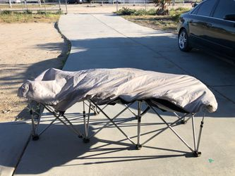 Twin Air Mattress bed with metal frame for Sale in Phelan,  CA