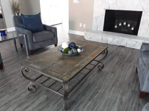 Farmhouse style slate tile top livingroom coffee table or patio table for Sale in Seminole, FL