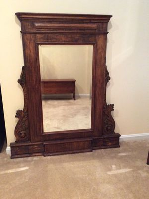 Mirror purchased in Cairo antique store 1992. Placed above fireplace in Cairo flat for several years. Provenance probably French, favored by affluent for Sale in Chevy Chase, MD