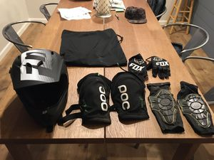 Fox mountain bike helmet and extras for Sale in Vancouver, WA