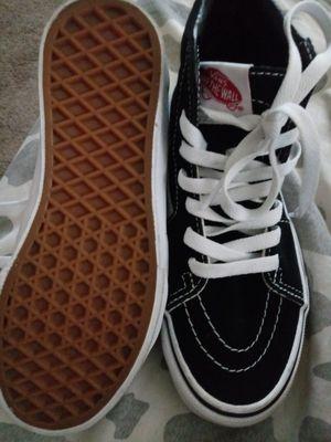 Black &white vans Sk8 hi skate shoes size 2 for Sale in Arlington, VA