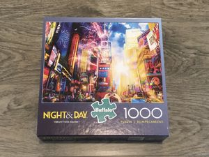 "NEW Buffalo Games Night & Day ""Vibrant Times Square"" Jigsaw Puzzle: 1000 Pieces for Sale in Tacoma, WA"