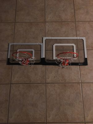 18x12 inch and 23x16 inch mini basketball hoops for Sale in Surprise, AZ