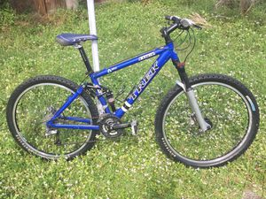 Trek Fuel 70 Full Suspension Rock Shox Blue Aluminum Mountain Bike for Sale in Palm Beach Gardens, FL