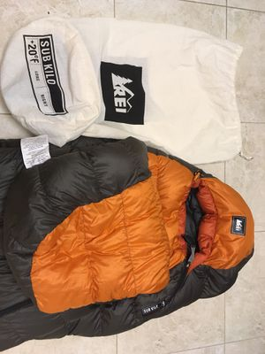 REI Goose Down 20 degree long mummy bag for Sale in Chico, CA